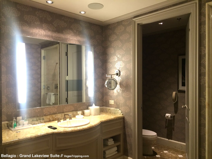Bellagio Grand Lakeview Suite Review Bathroom 2