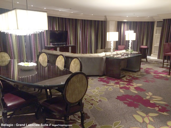 Bellagio Grand Lakeview Suite Review Living Room 2