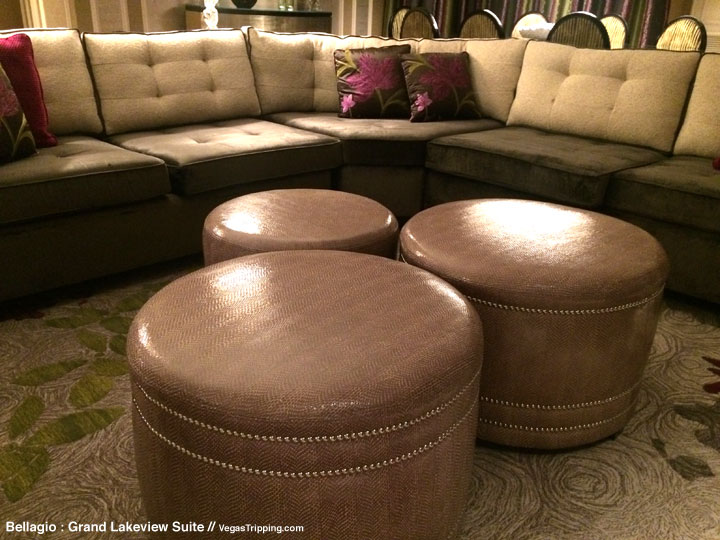 Bellagio Grand Lakeview Suite Review Ottomans
