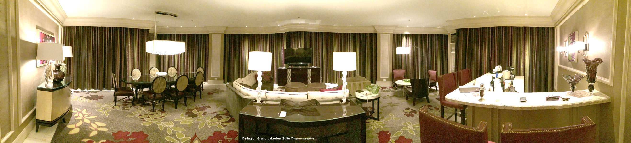 Bellagio Grand Lakeview Suite Review Panorama 1
