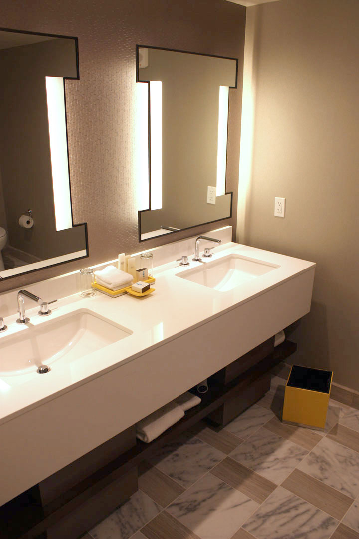 Caesars Palace Julius Tower Hotel Room Review Bathroom Mirrors