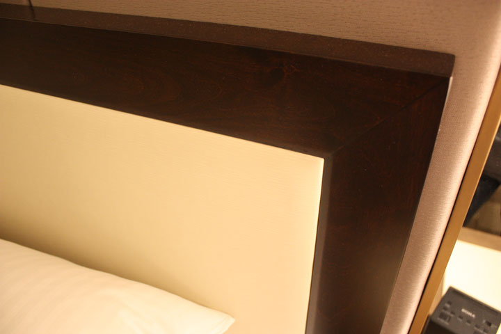 Caesars Palace Julius Tower Hotel Room Review Bed Headboard Bottom