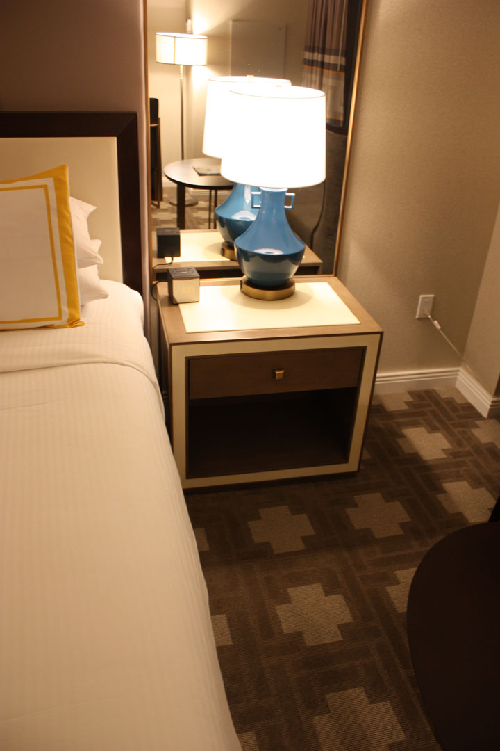 Caesars Palace Julius Tower Hotel Room Review Bed Nightstand Driver