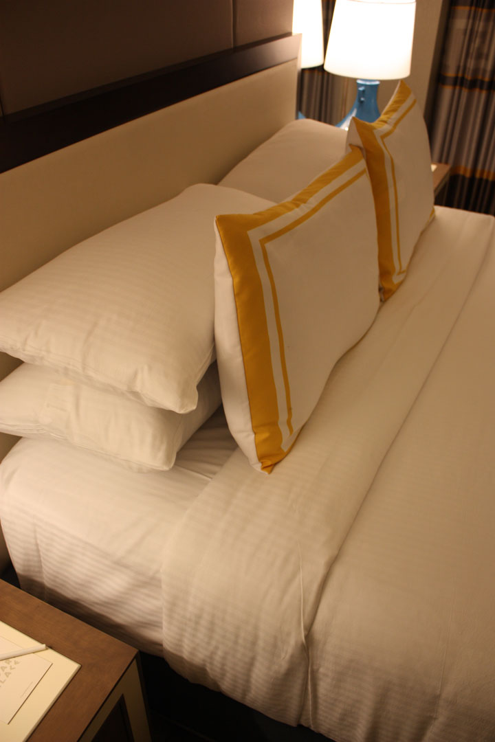 Caesars Palace Julius Tower Hotel Room Review Bed Pillows 2