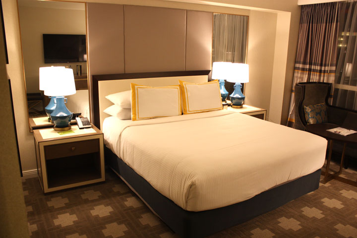 Caesars Palace Julius Tower Hotel Room Review Bed