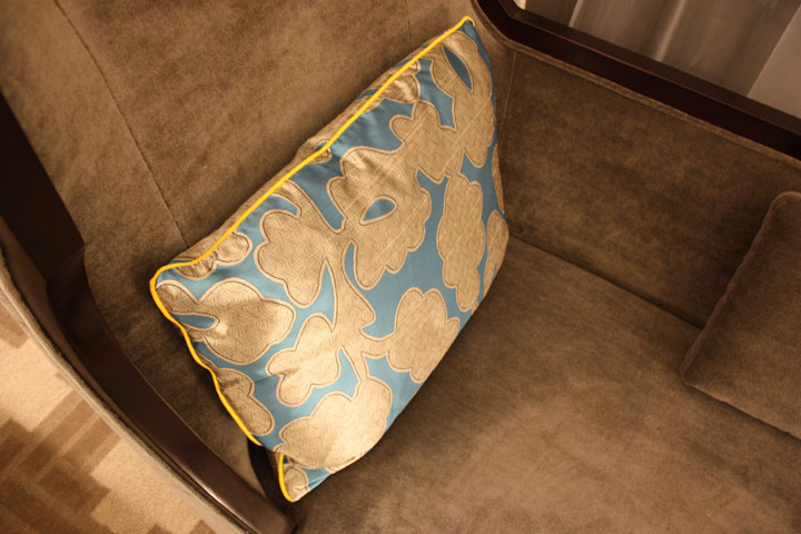 Caesars Palace Julius Tower Hotel Room Review Couch Pillow