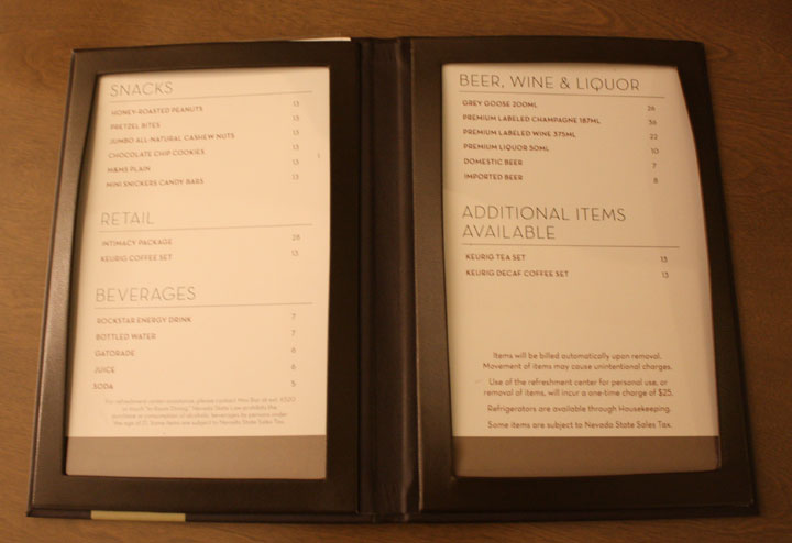 Caesars Palace Julius Tower Hotel Room Review Minibar Prices