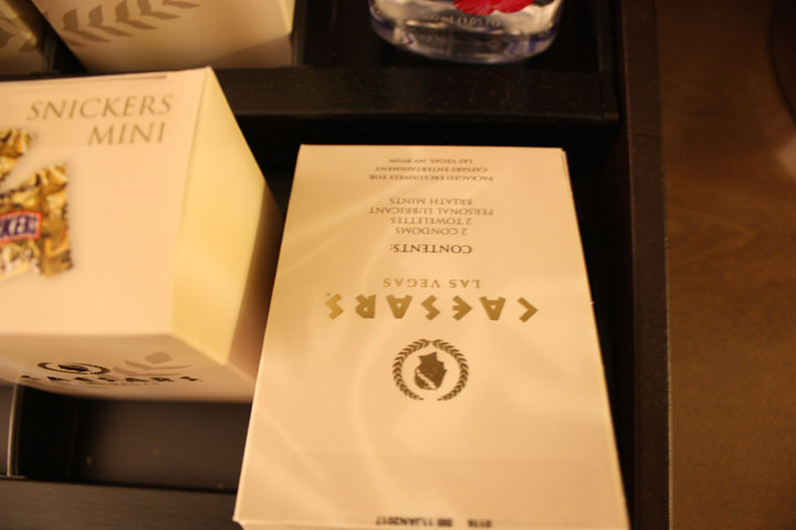 Caesars Palace Julius Tower Hotel Room Review Minibar Sexkit