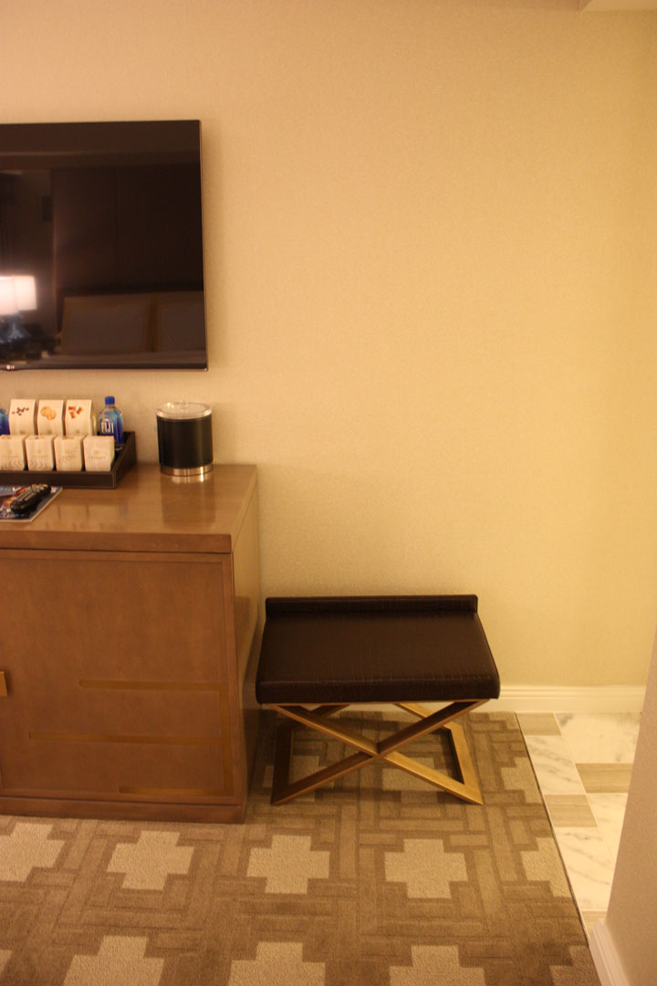 Caesars Palace Julius Tower Hotel Room Review Stool