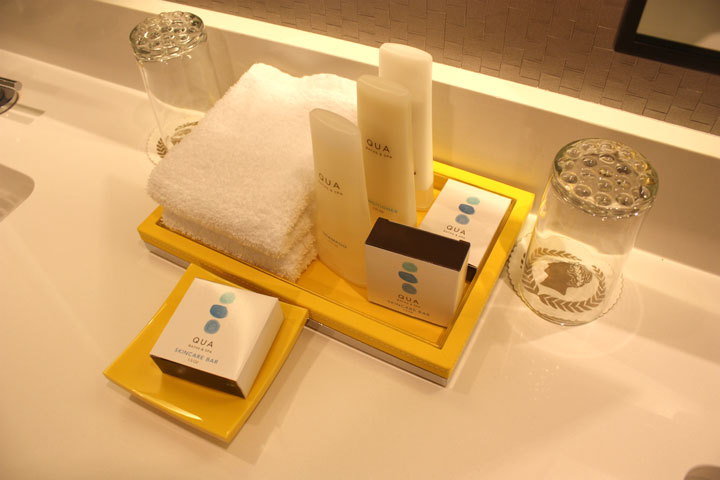 Caesars Palace Julius Tower Hotel Room Review Toiletries