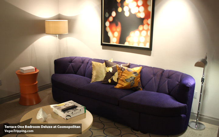 Cosmo Terrace Couch. The Cosmopolitan Terrace One Bedroom Suite   The VT Soft Review