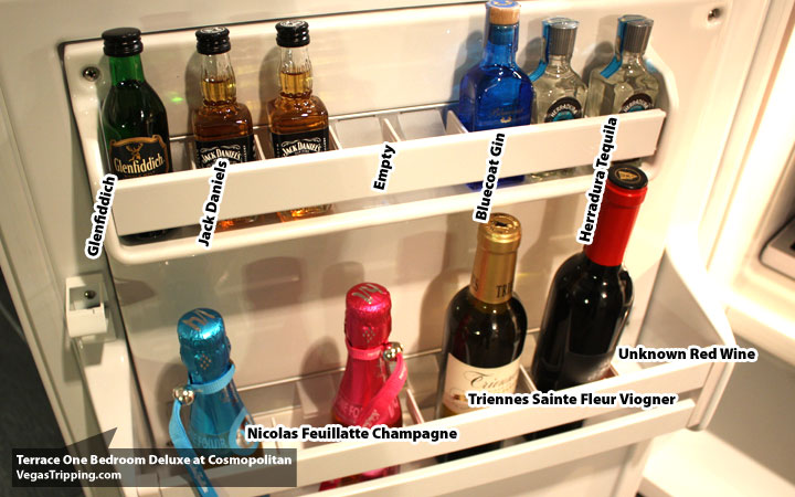 Cosmo Terrace Minibar Booze. The Cosmopolitan Terrace One Bedroom Suite   The VT Soft Review