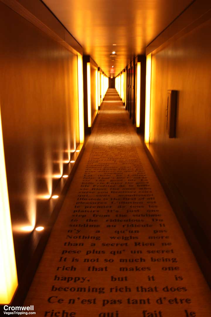 Cromwell Las Vegas Deluxe Room Review 2015 Hallway