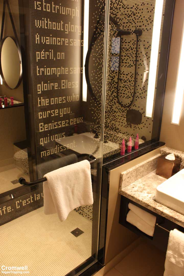 Cromwell Las Vegas Deluxe Room Review 2015 Shower