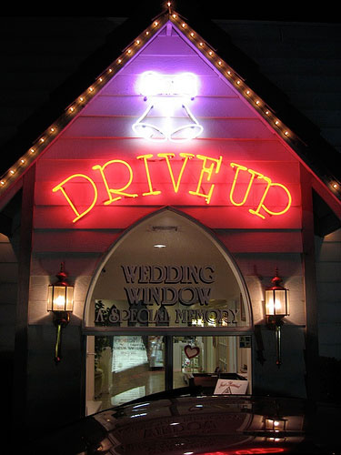 One Wedding Please Supersized A Womans Account Of Her Las Vegas Drive Thru Nuptials