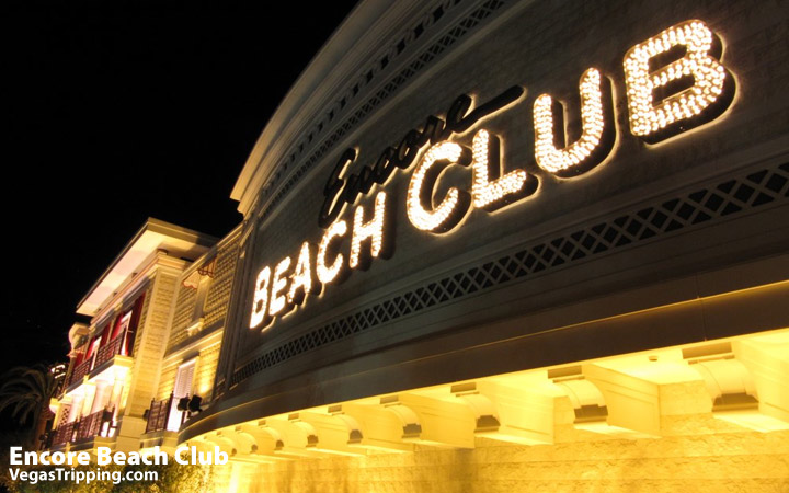 Encore Beach Club - Surrender Nightclub Photo Sign