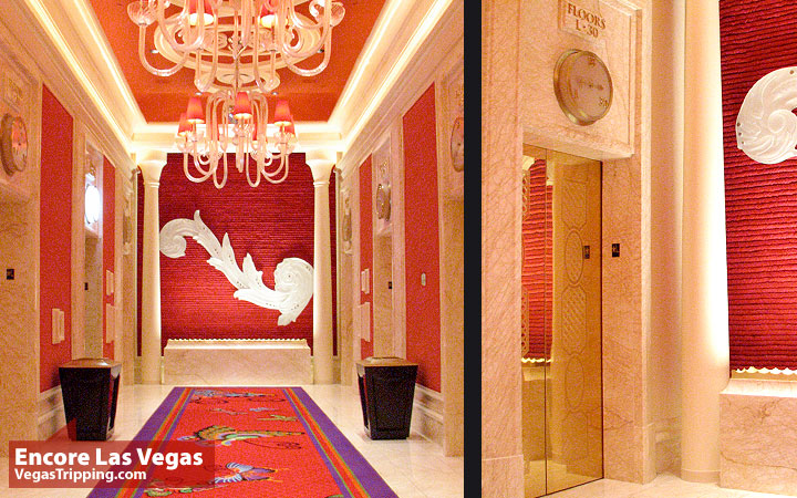 Encore Las Vegas Room Review Photos - Elevator Casino Level