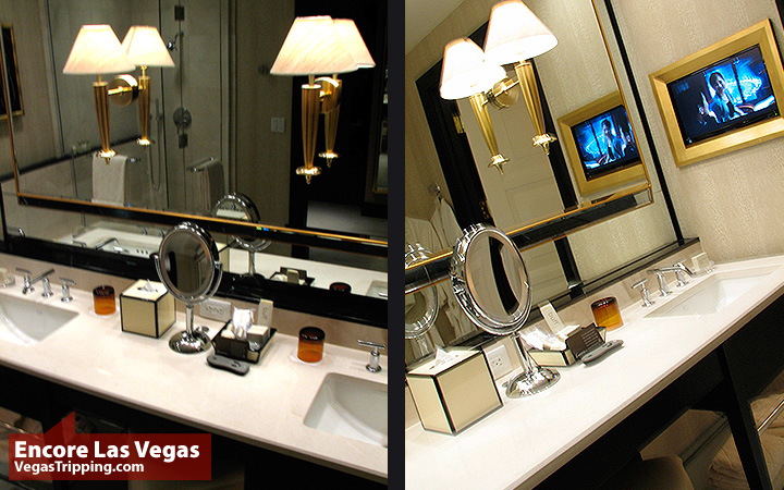 Encore Las Vegas Room Review Photos - Sinks