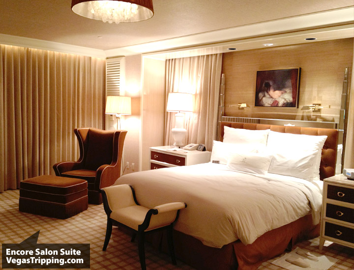 Encore Salon Suite Review - Bed
