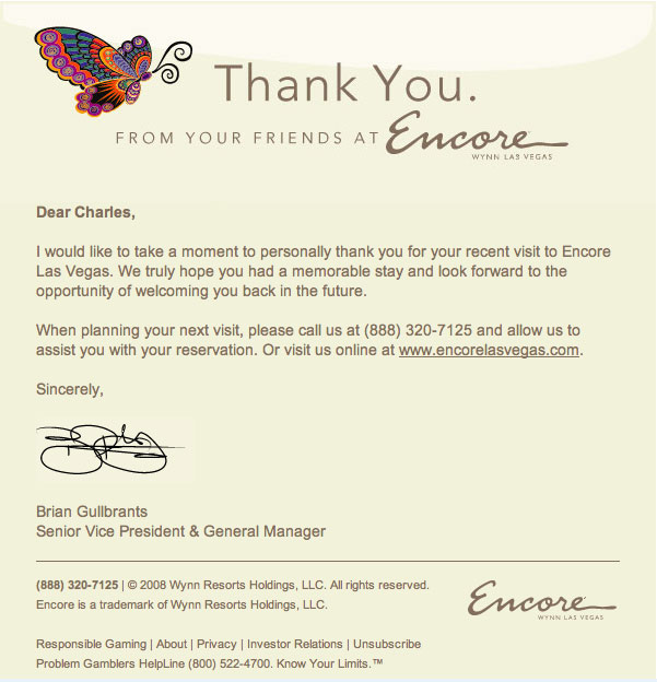 Simple thank you note encore thank you note