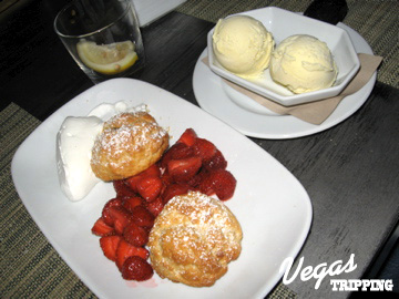 Craftsteak MGM Grand Review - Strawberry Shortcake