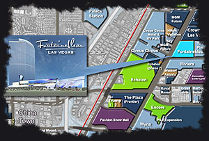 Fontainebleau Las Vegas Map by Mark Adams, VegasTodayandTomorrow.com