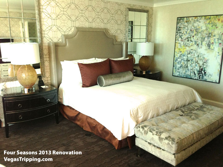 Four Seasons Las Vegas Suite Review Renovations 2013 Bedroom