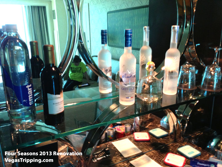 Four Seasons Las Vegas Suite Review Renovations 2013 Minibar Booze