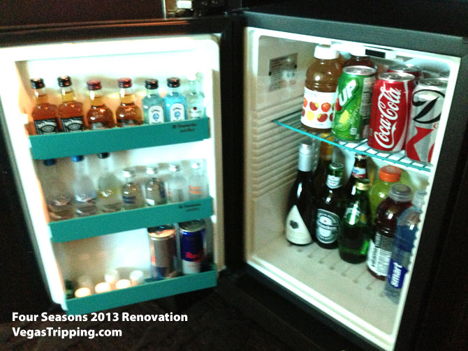 Four Seasons Las Vegas Suite Review Renovations 2013 Minibar Fridge