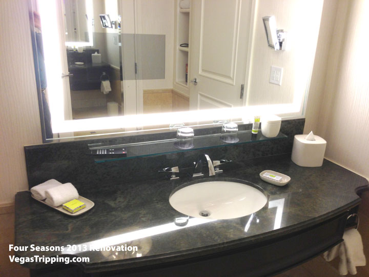 Four Seasons Las Vegas Suite Review Renovations 2013 Sink