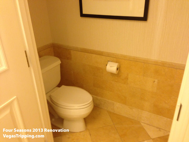 Four Seasons Las Vegas Suite Review Renovations 2013 Toilet