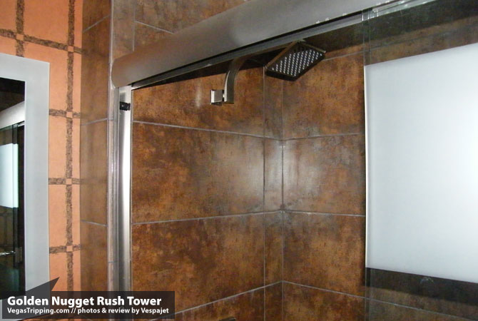 Golden Nugget Rush Tower Review  Shower