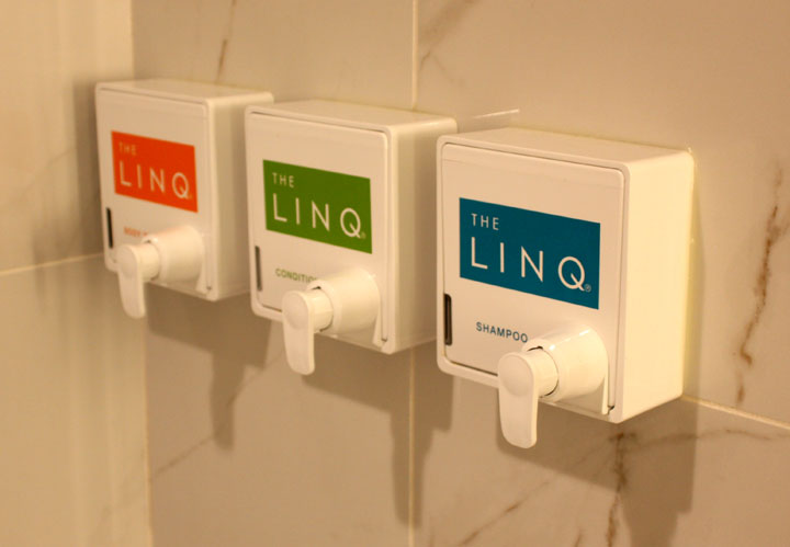 LINQ Hotel & Casino Room Review Amenities Showe