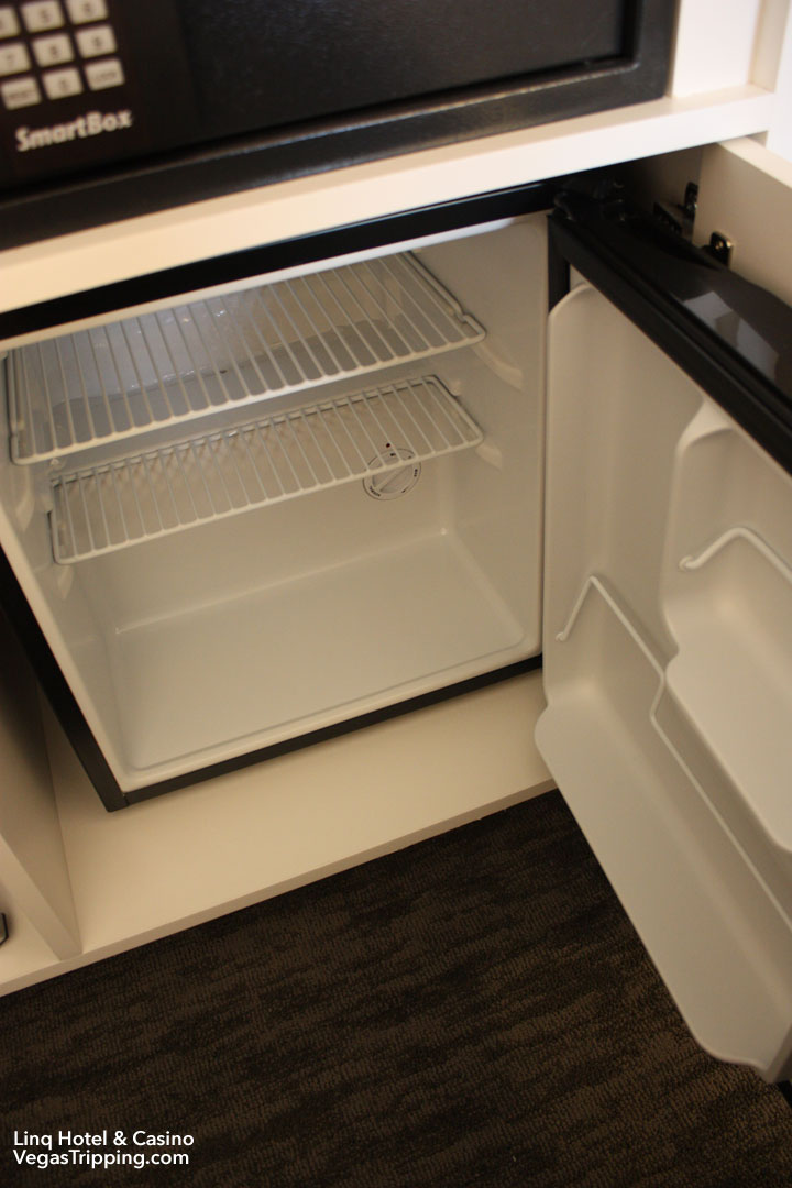 LINQ Hotel & Casino Room Review Fridge