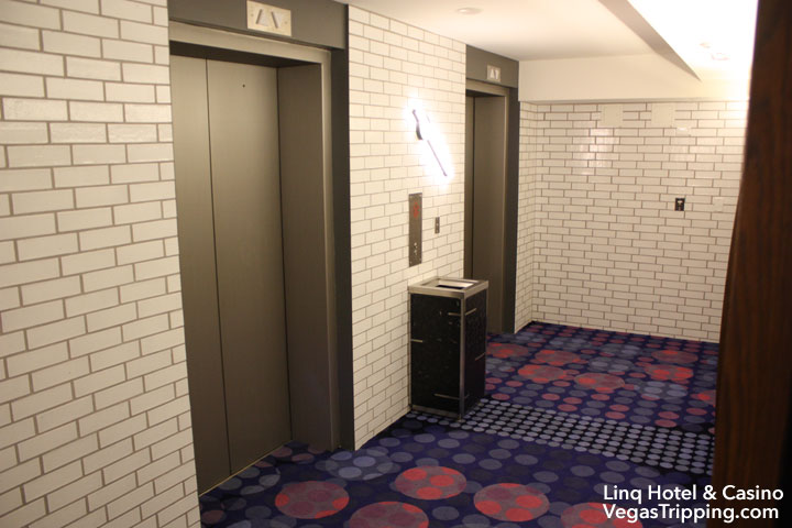 LINQ Hotel & Casino Room Review Landing Doors