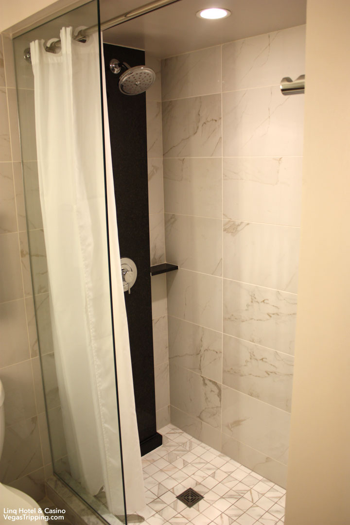 LINQ Hotel & Casino Room Review Shower
