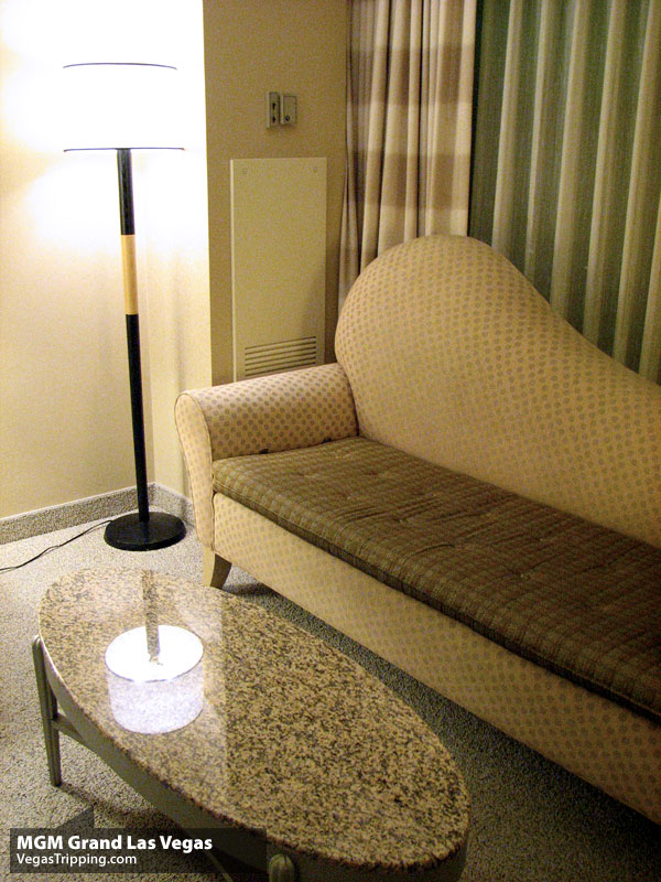 MGM Grand Las Vegas Hotel Room Review -  Couch