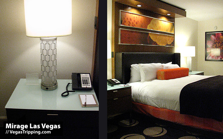 Mirage Las Vegas : 2009 New Rooms Review -  Bedside