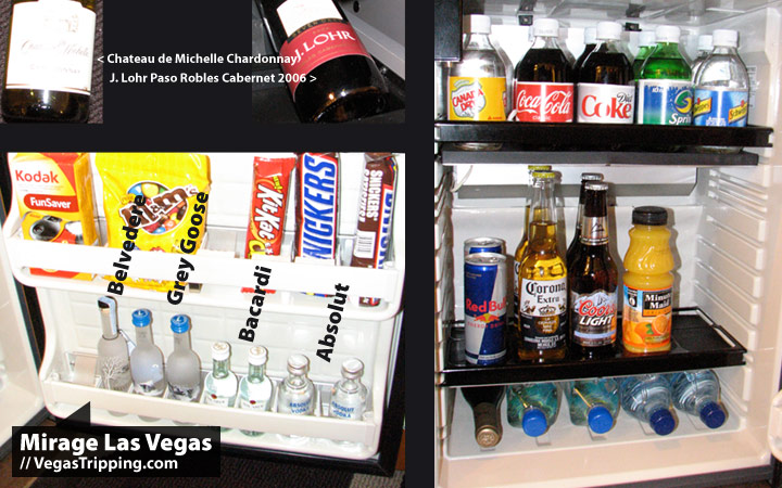 Mirage Las Vegas : 2009 New Rooms Review -  Minibar