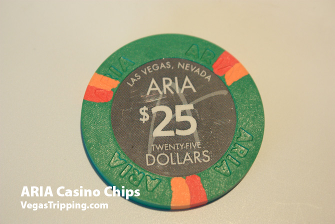Aria Casino Chips 25 dollars