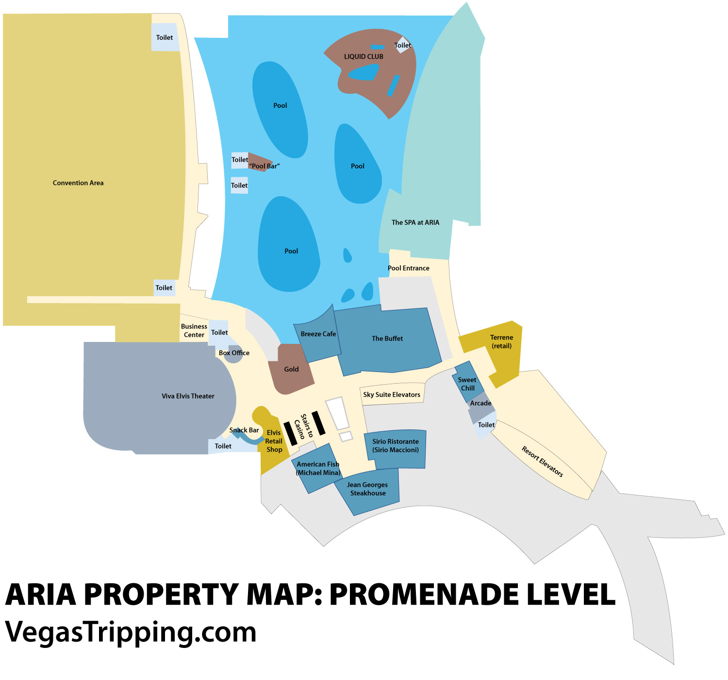 The ARIA Property Map VegasTripping