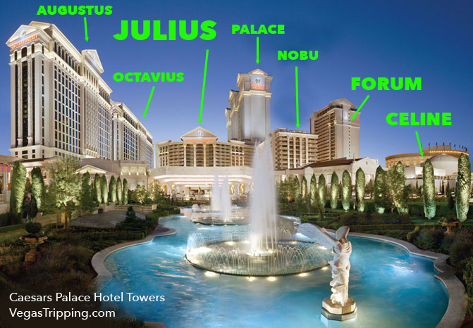 Names and Locations Of Caesars Palace Hotel Towers