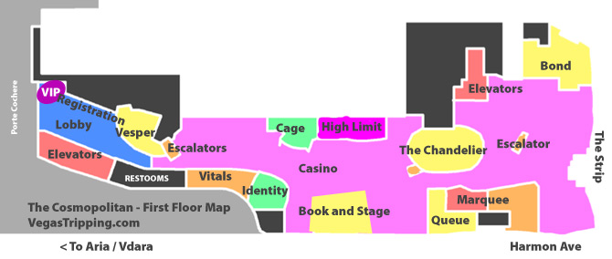 the cosmopolitan las vegas map virginia map