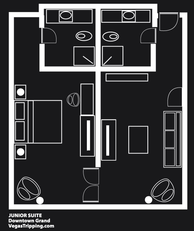 Downtown Grand Junior Suite Floor Plan