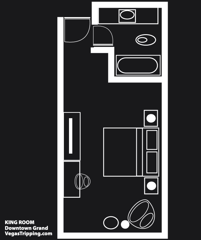 Downtown Grand King Room Floorplan