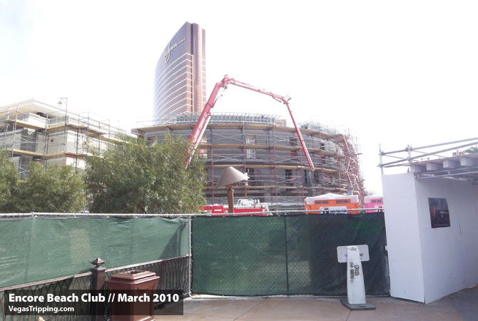 Encore Beach Club Construction