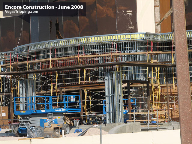Encore Suites at Wynn Las Vegas Construction June 2008 -  Towerentrydeta