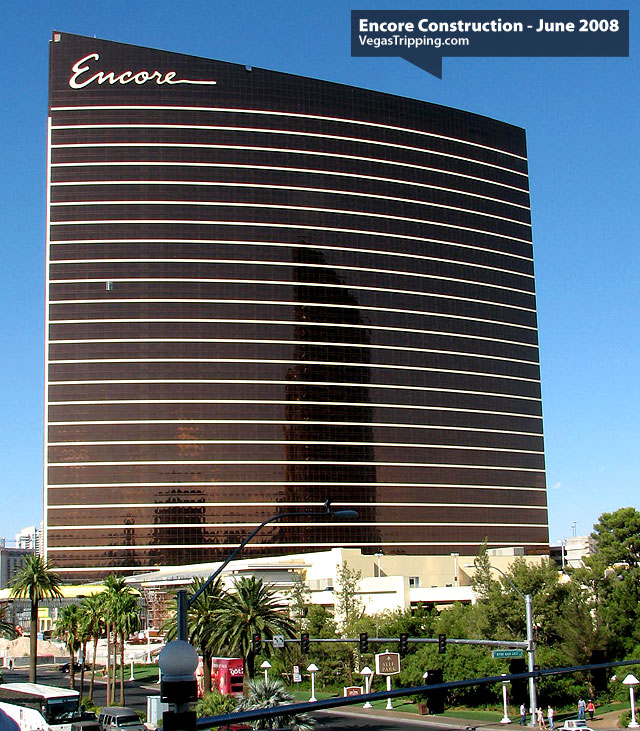 Encore Suites at Wynn Las Vegas Construction June 2008 -  Towerfront