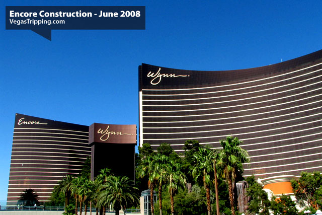 Encore Suites at Wynn Las Vegas Construction June 2008 -  Towers