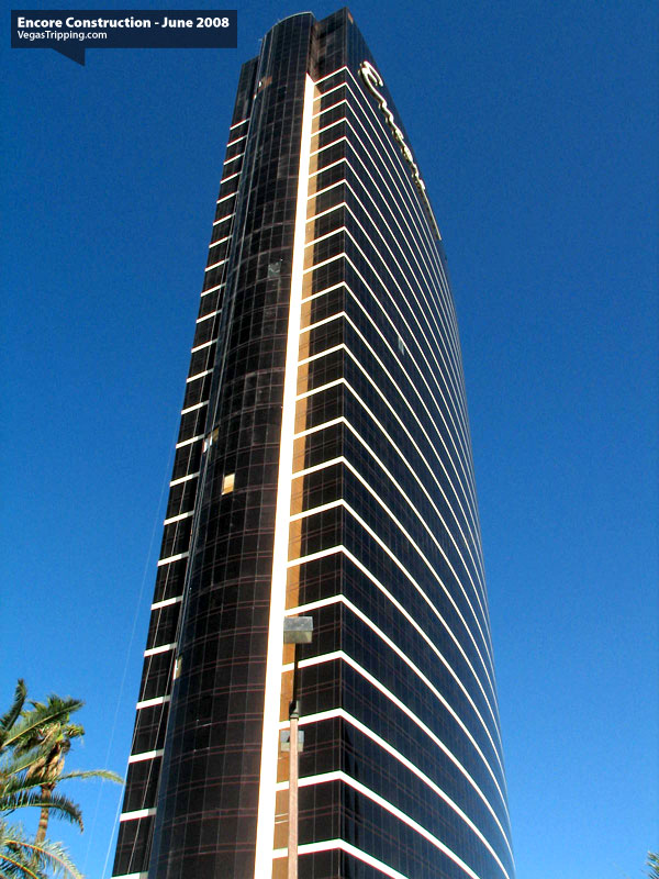 Encore Suites at Wynn Las Vegas Construction June 2008 -  Towerside